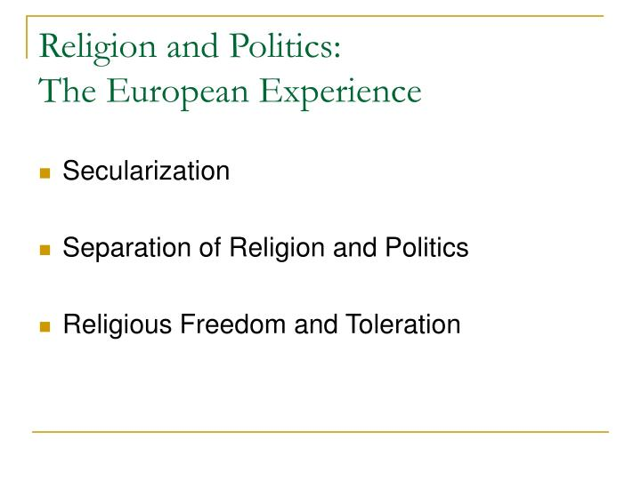 Religion and Politics: