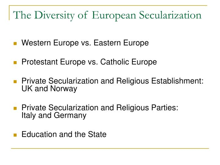 The Diversity of European Secularization