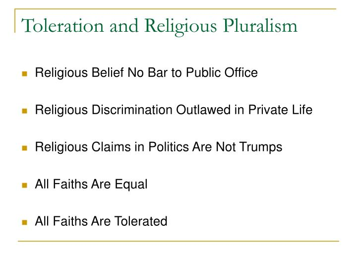 Toleration and Religious Pluralism