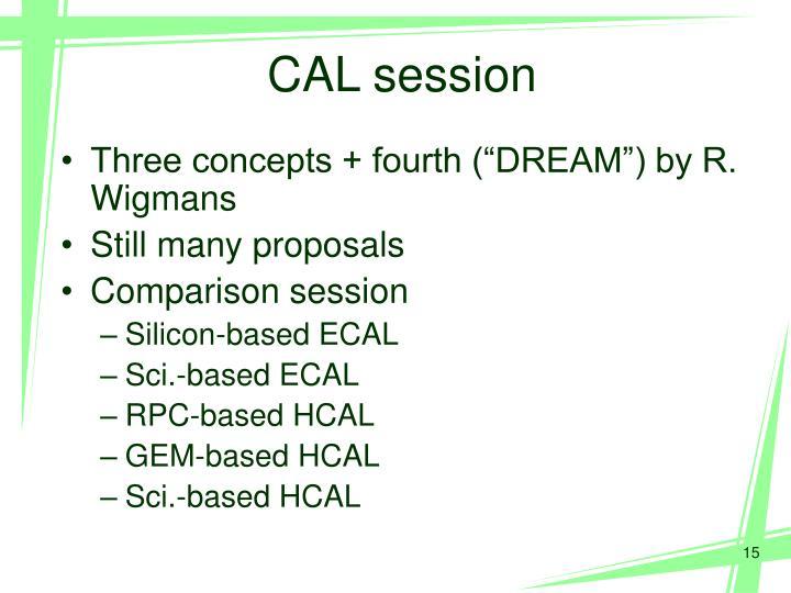 CAL session