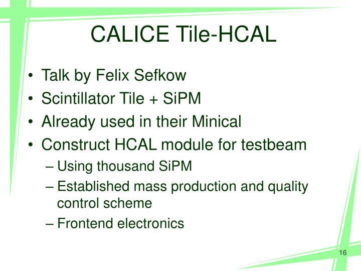 CALICE Tile-HCAL