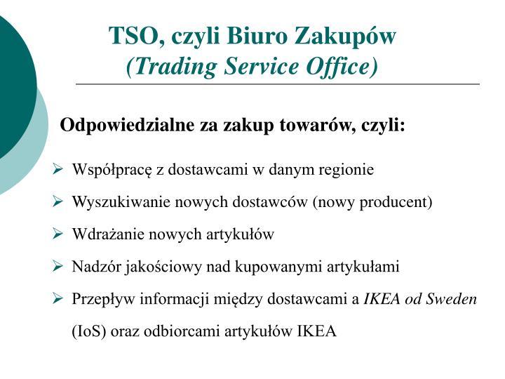 TSO, czyli Biuro Zakupów