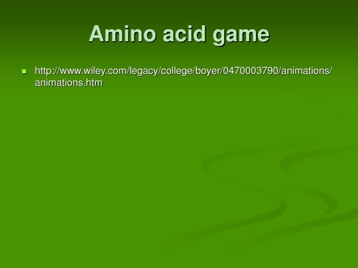 Amino acid game