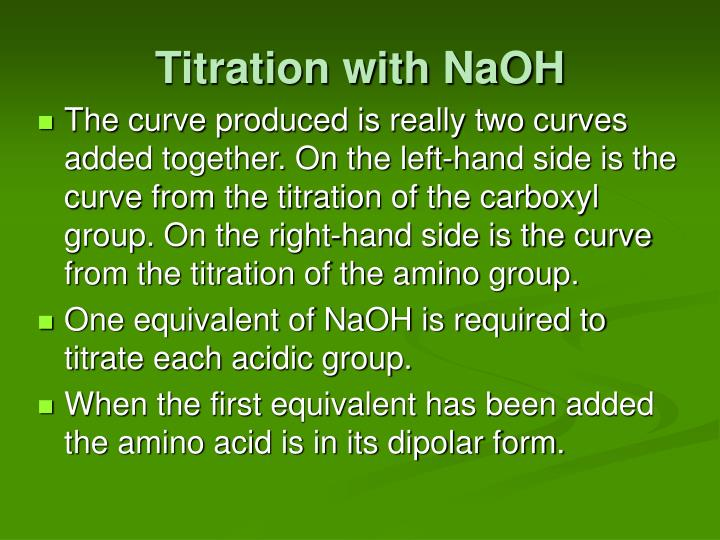 Titration with NaOH
