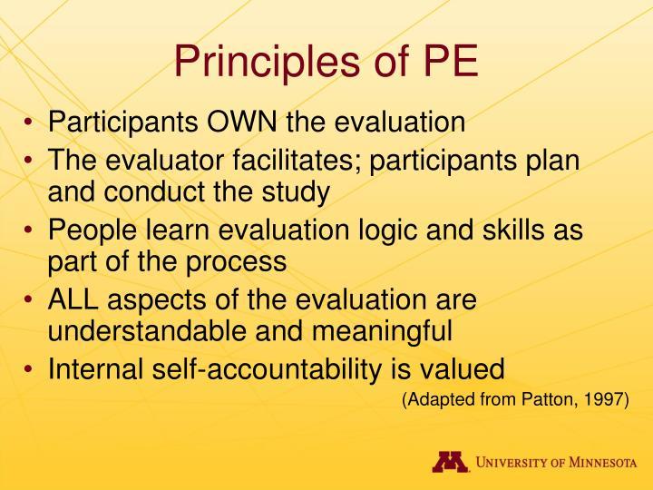 Principles of PE