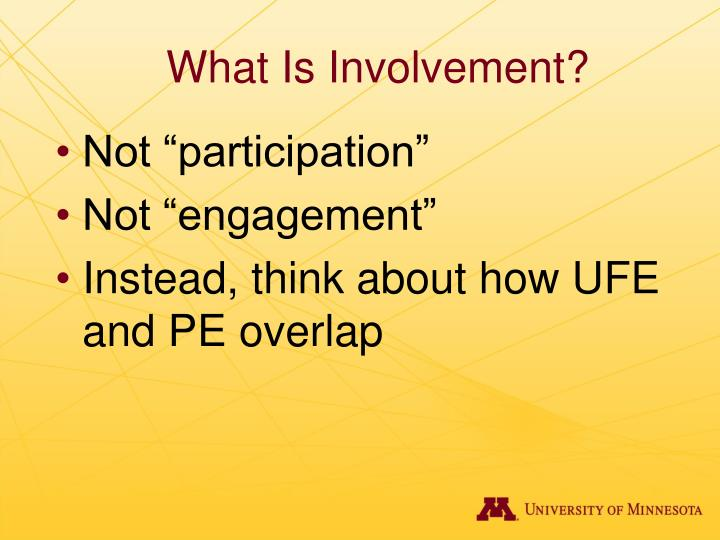 What Is Involvement?