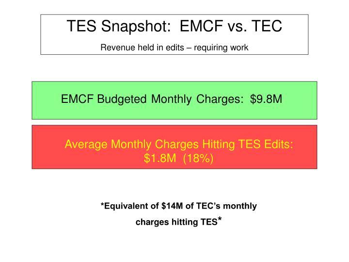 TES Snapshot:  EMCF vs. TEC