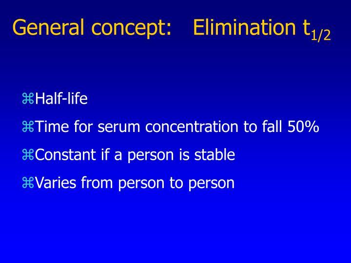 General concept:   Elimination t