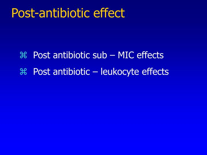 Post-antibiotic effect
