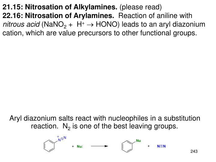 21.15: Nitrosation of Alkylamines.