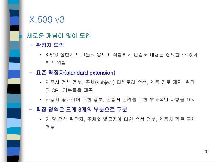 X.509 v3