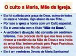 o culto a maria m e da igreja