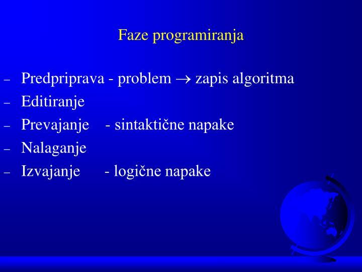 Faze programiranja