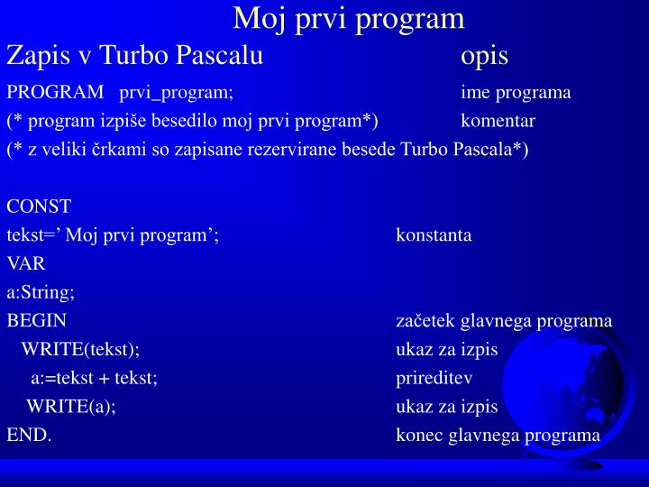Moj prvi program