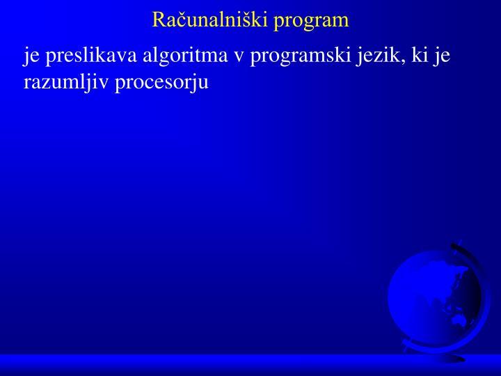 Računalniški program