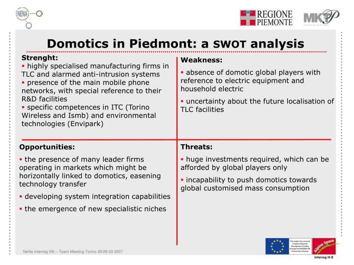 Domotics in Piedmont: a