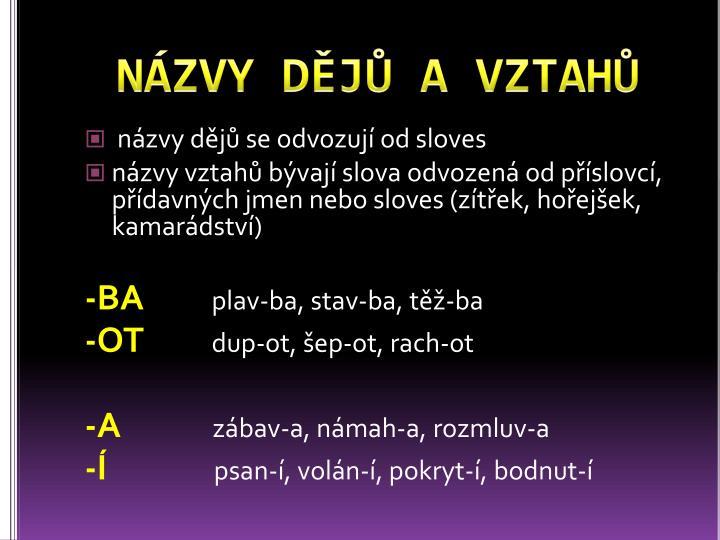 NÁZVY