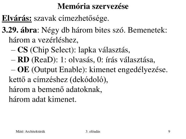 Memória szervezése