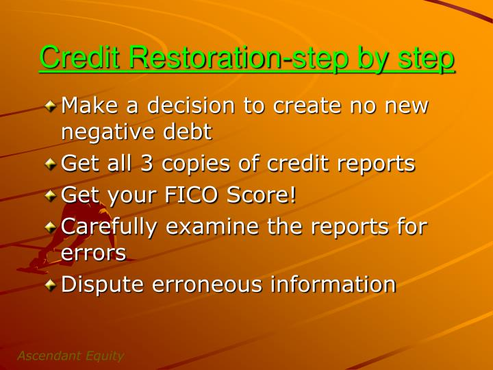 Credit Restoration-step by step