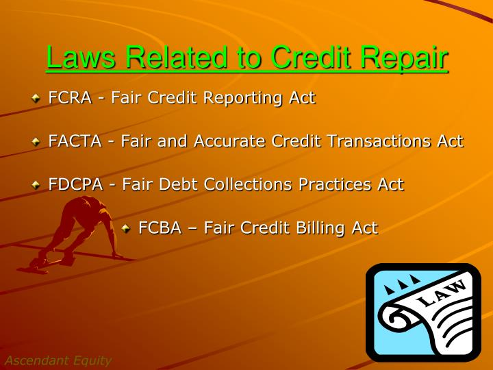 Laws Related to Credit Repair