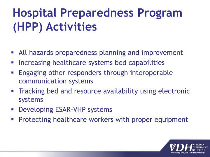 Hospital Preparedness Program (HPP) Activities