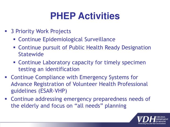 PHEP Activities