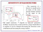 sensitivity of bar detectors