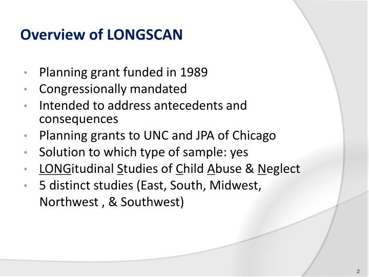 Overview of longscan