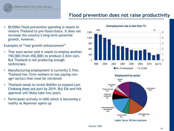 Flood prevention does not raise productivity