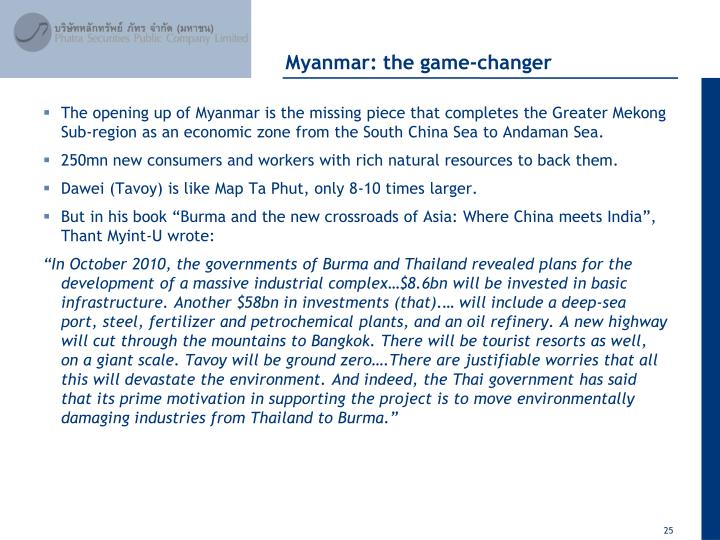 Myanmar: the game-changer