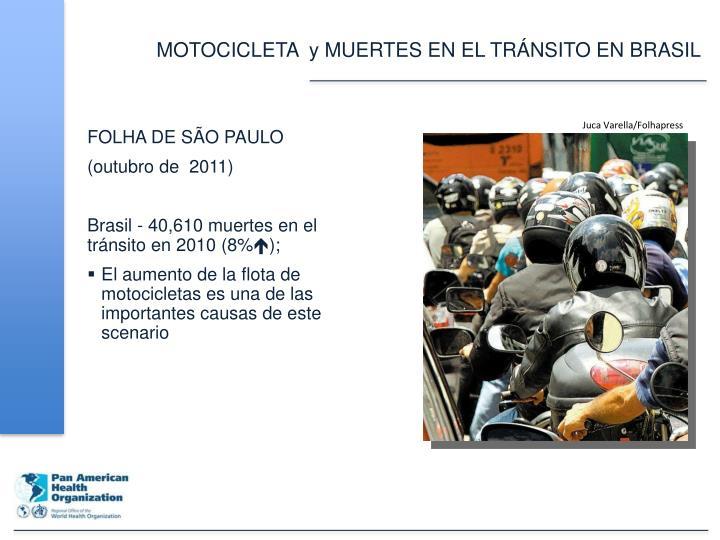 MOTOCICLETA  y MUERTES EN EL TRÁNSITO EN BRASIL