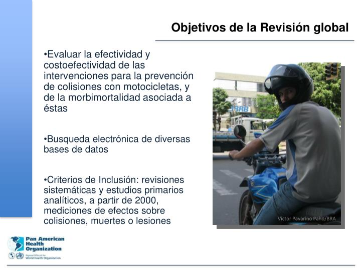 Objetivos de la Revisión global