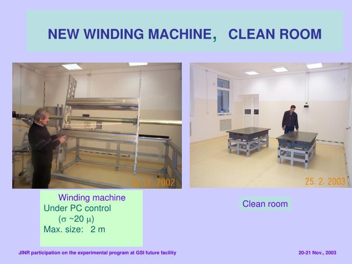 NEW WINDING MACHINE