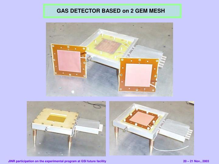 GAS DETECTOR BASED on 2 GEM MESH