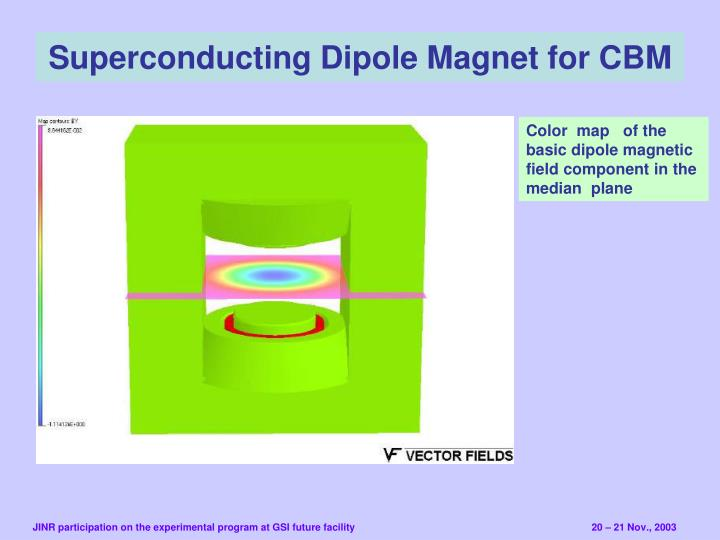 Superconducting Dipole Magnet for CBM