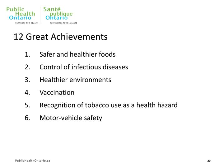 12 Great Achievements