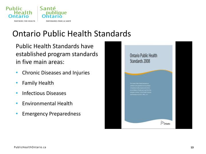 Ontario Public Health Standards