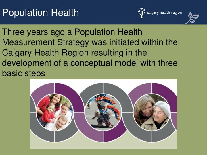 Three years ago a Population Health