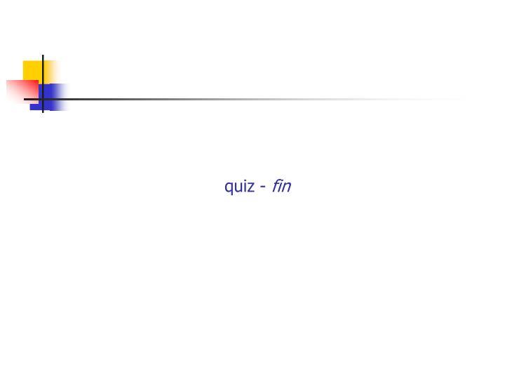 quiz -
