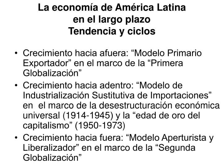 La economía de América Latina