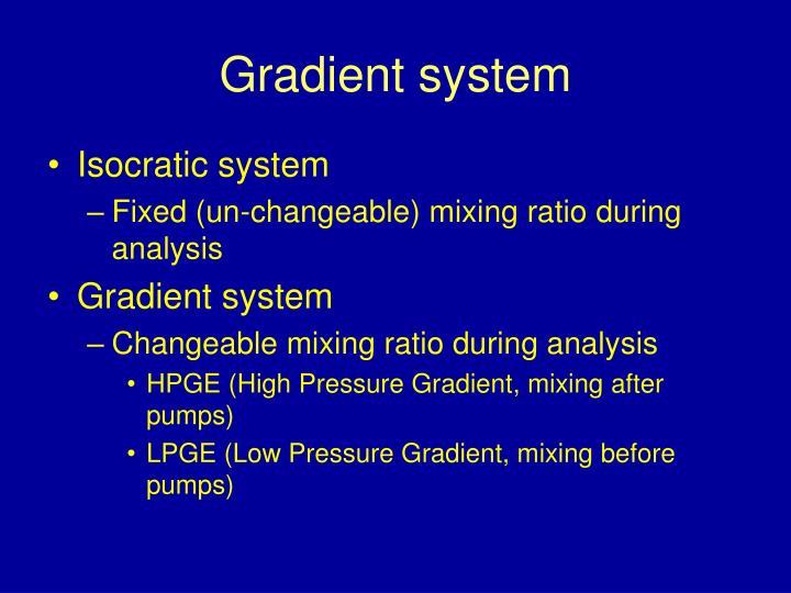 Gradient system