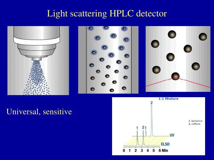 Light scattering HPLC detector