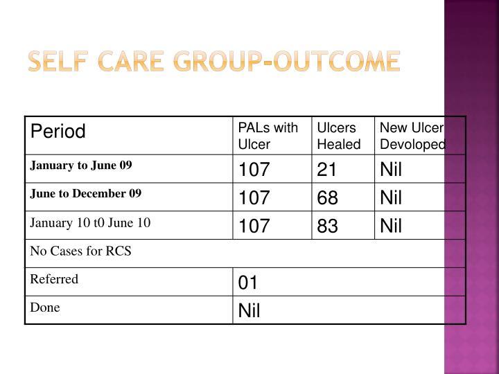 Self Care Group-Outcome