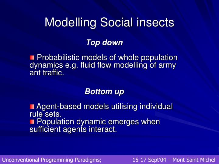 Modelling Social insects
