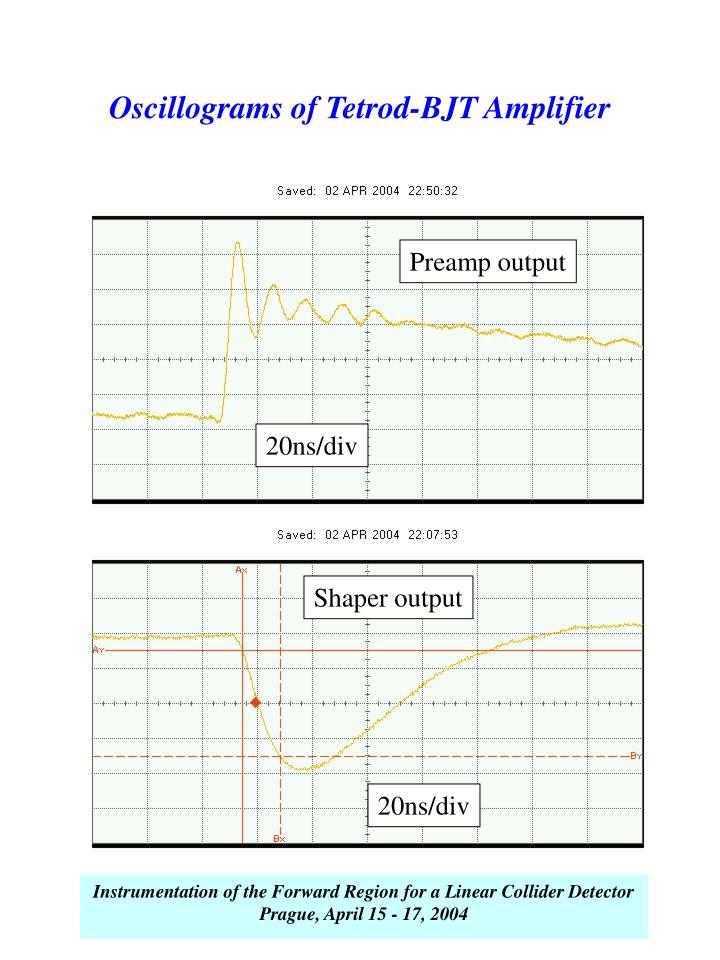 Oscillograms of Tetrod-BJT Amplifier