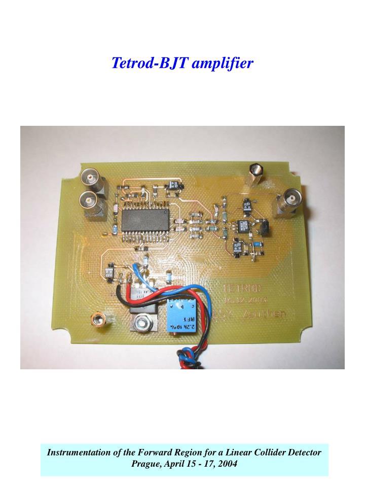 Tetrod-BJT amplifier