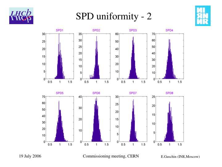 SPD uniformity - 2