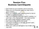 session five business card etiquette