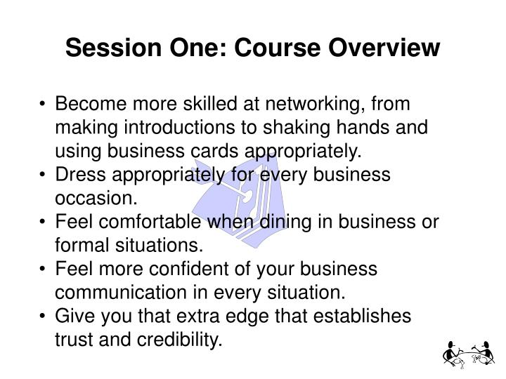 Session one course overview
