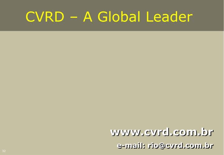 CVRD – A Global Leader
